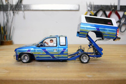 scale mini truck side lifted bed