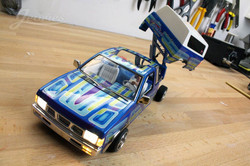 scale rc mini truck painted hood