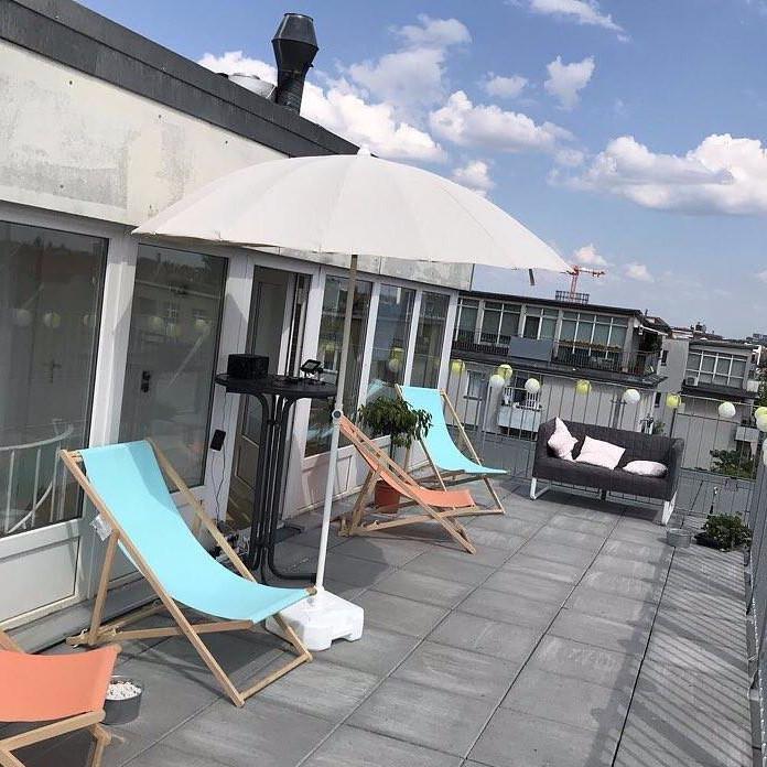 Der Dachterrasse der ESTP Berlin