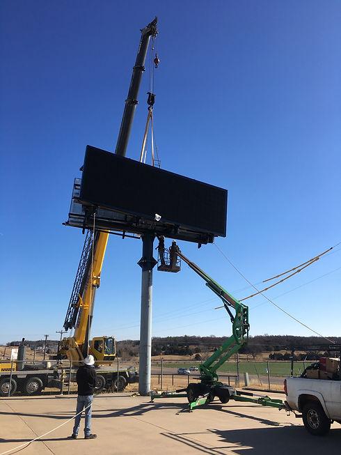 Digital install for Crosshair Advertising in Stillwater