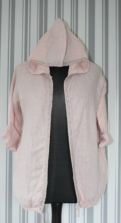 Blush Pink Linen Style Jacket