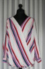 Plus Size multi colour stripe cross over