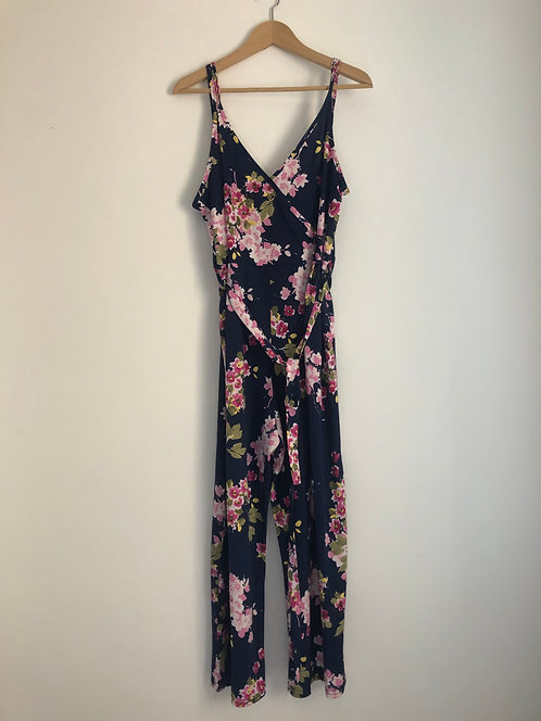 Navy with Floral Detail Jumpsuit