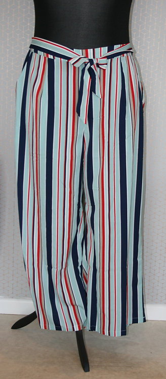 Plus Size Stripe Trousers