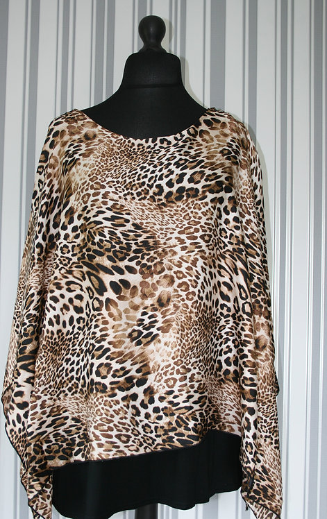 Plus Size Animal Print Top