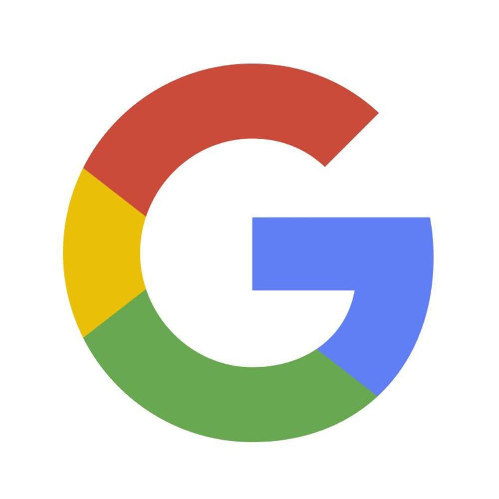 Google logo in multicolour