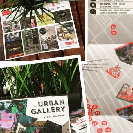 The Urban Gallery street art walking map