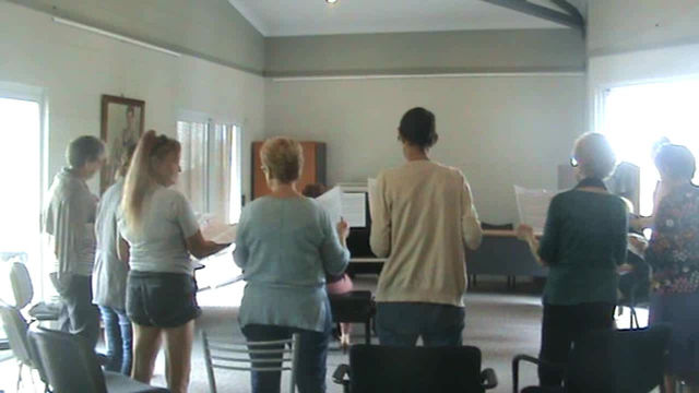 First rehearsal of Circle of Song