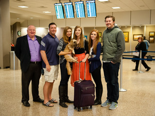 And....she's off to Peru!