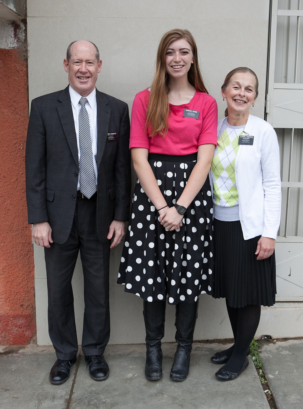 With Mission President and Sister Henderson