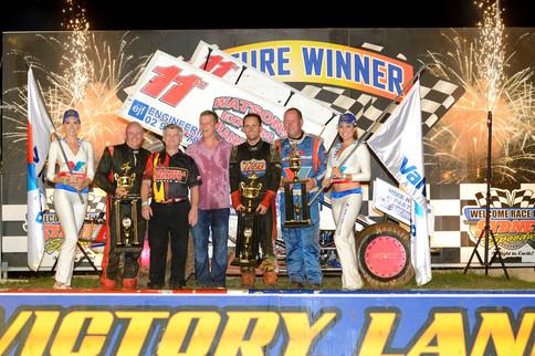 2013 Scott Darley $50,000 Challenge podium.