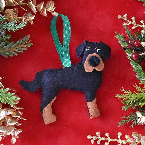 Felt Rottweiler Ornament