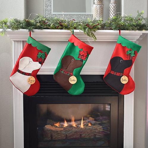 Labrador Personalized Christmas Stocking