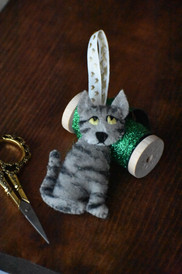 Grey Tabby Ornament