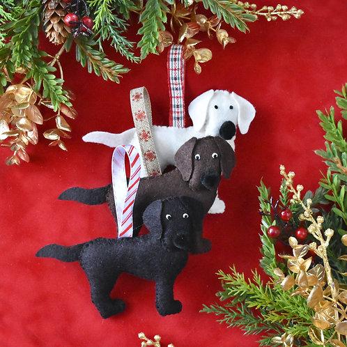 Felt Labrador Ornament