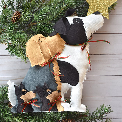 Multiple Dog Tree Topper (2 or 3)