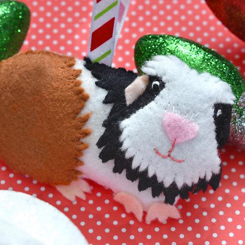 Guinea Pig Christmas Ornament