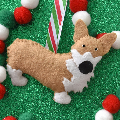 Felt Corgi Ornament
