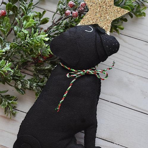 Pug Tree Topper