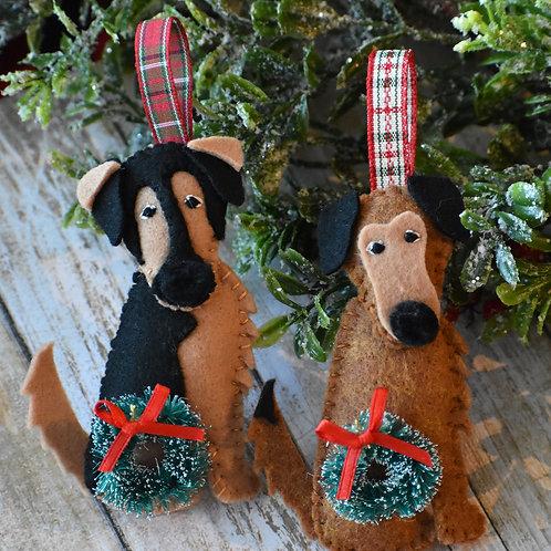 Custom Designed Personalized Dog Ornament