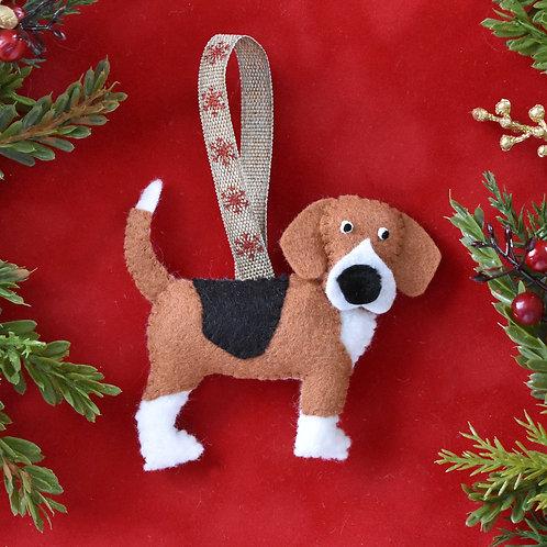 Felt Beagle Ornament
