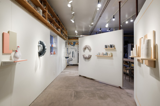 Gallery view showcasing works from Savanna Labauve and Stephanie Seguin.