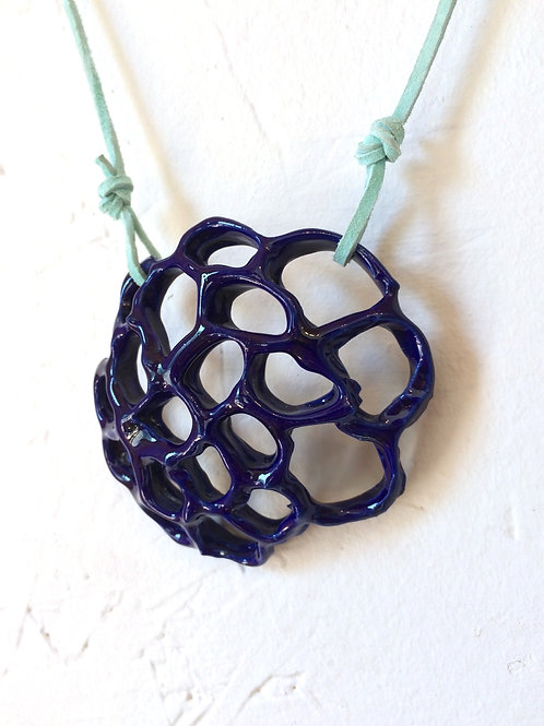 Royal Blue Honeycomb Necklace