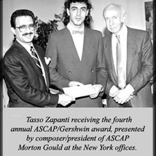 Ascap Gerswin award in composition