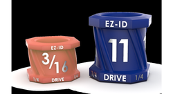 EZ-ID socket markers make it easy to ID one socket from another