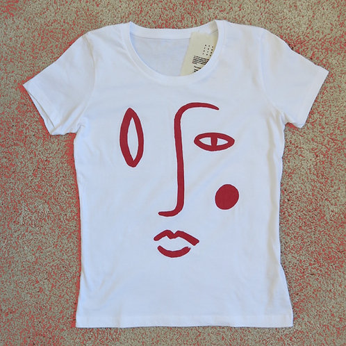 T-shirt Narcisse Rouge