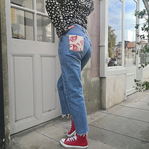 Levi's 501 Paisley Red