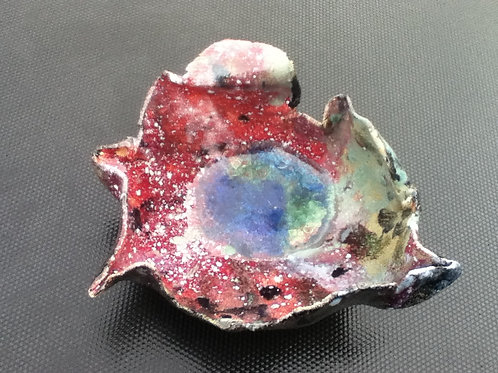 Medium Glazed Bowl with glass