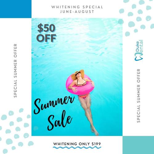 Summer Whitening Discount