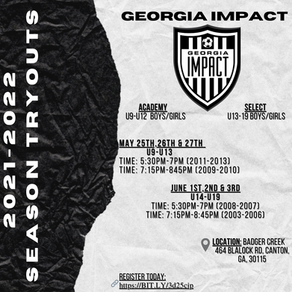 2021-2022 Summer Tryouts