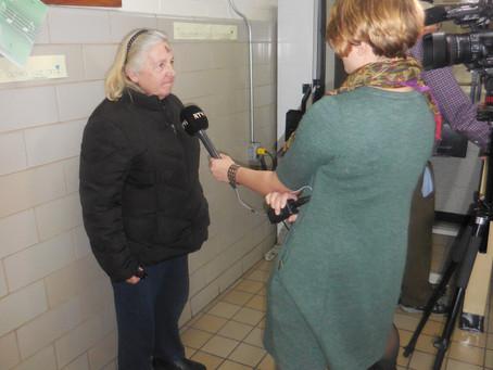 Geri Gets Interviewed for a TV Segment