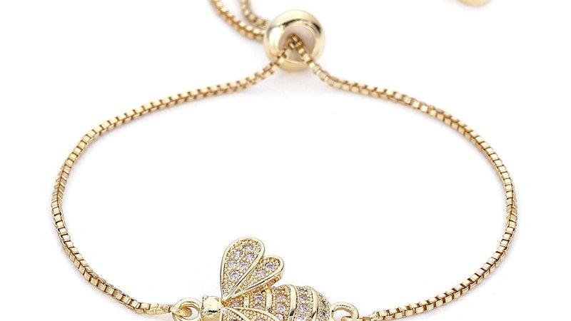CZ Bee Charm Bracelet