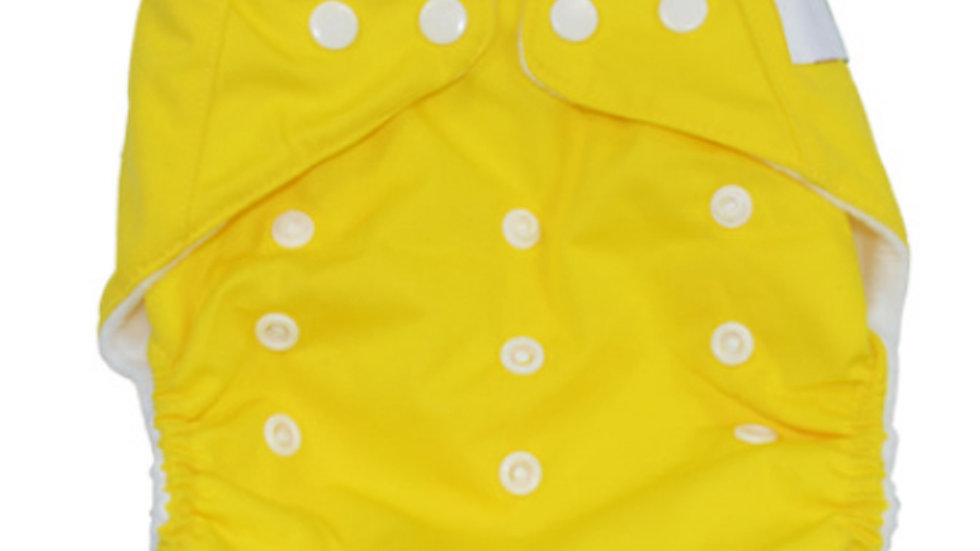 Yellow Cloth Diaper Cover