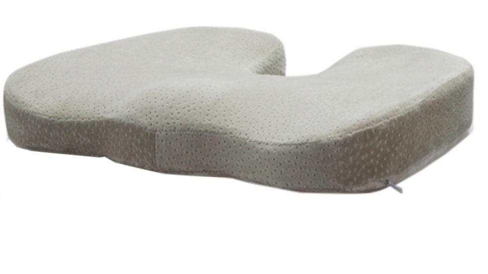 Light Grey Velvet Bottom Cushion
