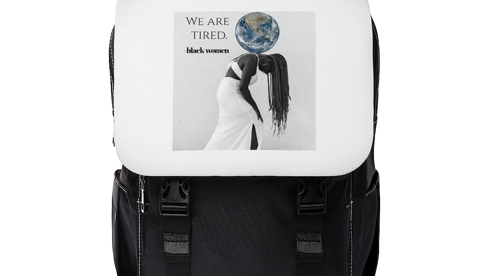 """""""We are tired"""" Backpack"""