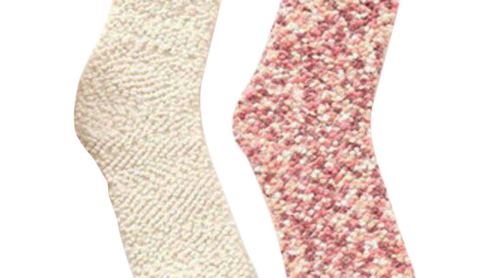 2 Pairs Soft Fuzzy Slipper Socks