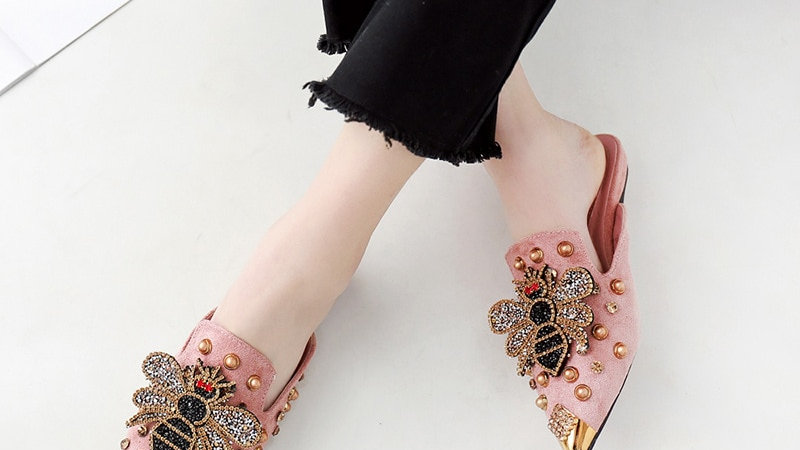 Pointed Toe Luxury Slippers