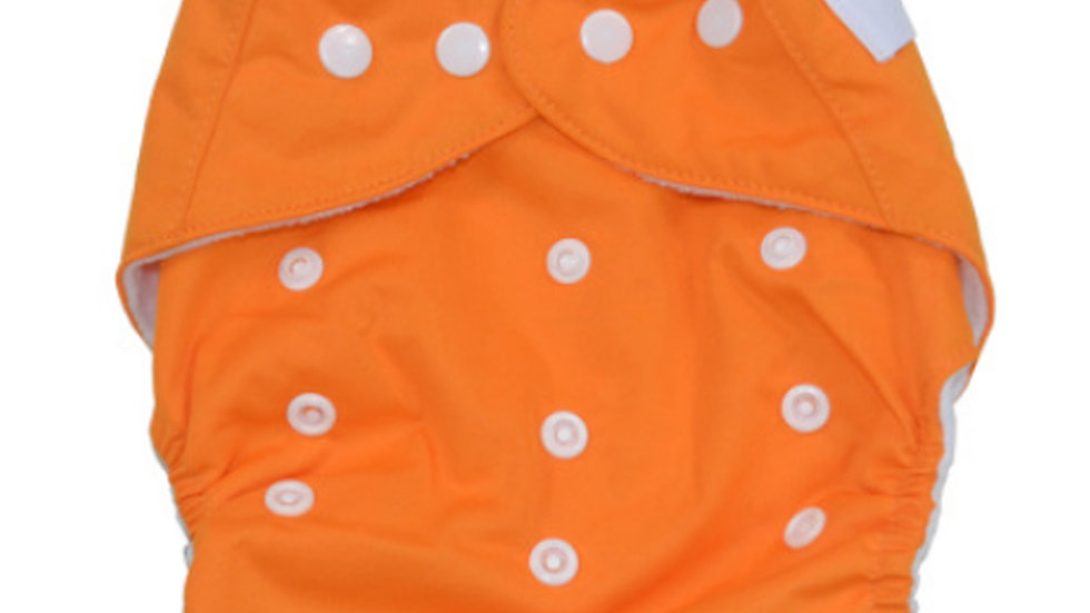 Orange Cloth Diaper Cover