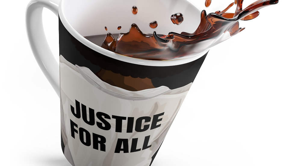 """Justice for all"" latte mug"
