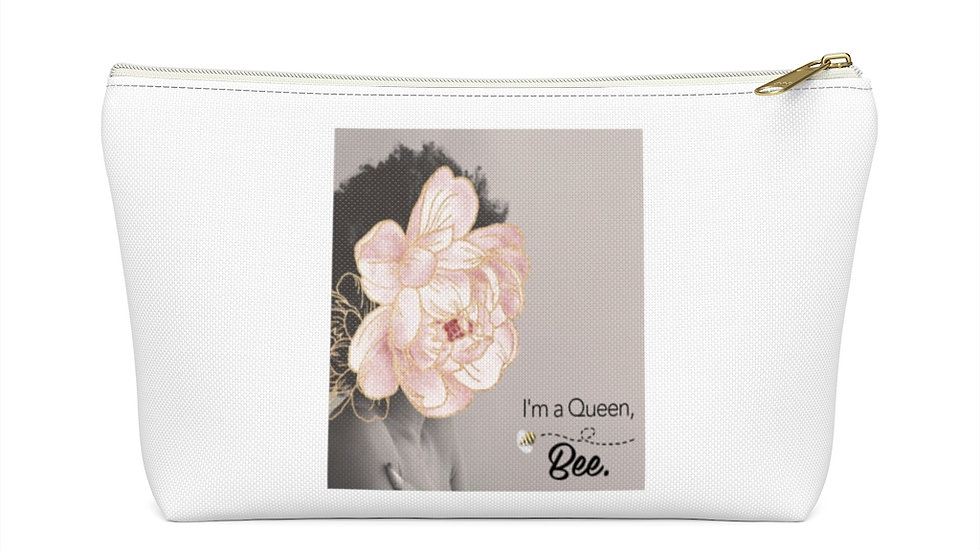 """I'm a Queen, Bee"" accessory pouch"