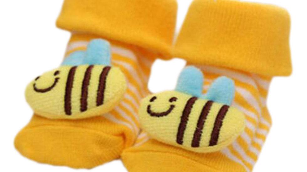 3 Pairs Non-slip Newborn Socks