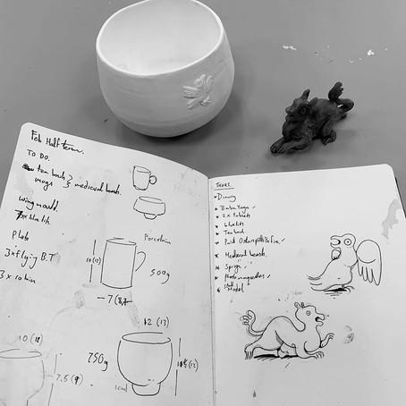 Tea Bowls and Sprigs