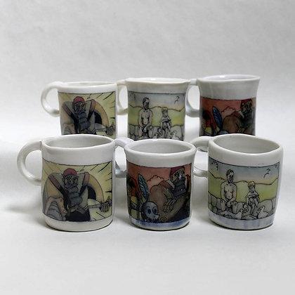 Sum of Parts set of three espresso cups.