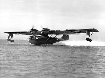 PBY-5 Catalina taking off in 1943