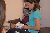 Dr. Kelly Cullen, (DC) adjusting a patient