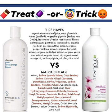 Biolage shampoo comparison toxins pue Ha